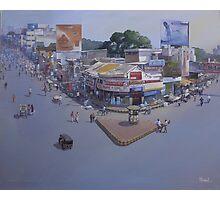 VARIETY SQUARE, NAGPUR.. acrylic on canvas  Photographic Print