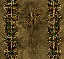 Celtic Cross And Celtic Knot Strips by Packrat