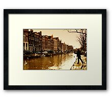 Amsterdam the last days in Autumn Framed Print
