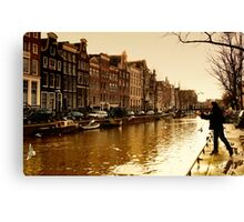 Amsterdam the last days in Autumn Canvas Print