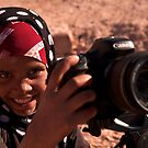 bedouin girl by George Woodcock
