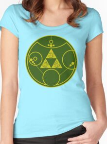 Gallifreyan Hylian Crest Women's Fitted Scoop T-Shirt