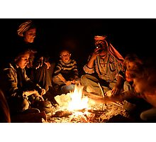 Bedouin family around the fire Photographic Print