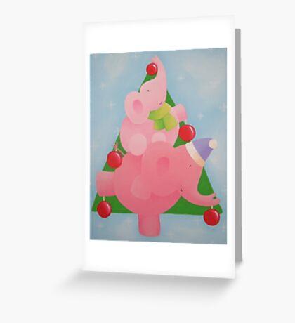 Christmas Elephant Greeting Card