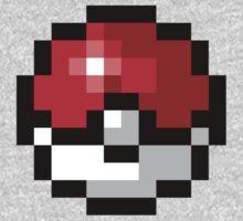 Pixel art Pokeball One Piece - Short Sleeve