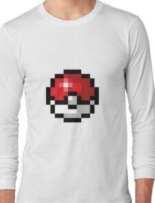 Pixel art Pokeball Long Sleeve T-Shirt