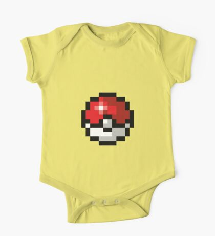 Pixel art Pokeball One Piece - Short Sleeve