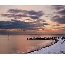 snowy west bay,  Photographic Print