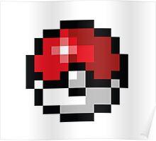 Pixel art Pokeball Poster