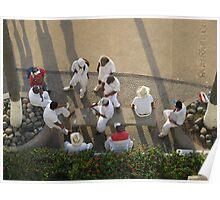 The Beach Vendors are taking a Break - Los Vendedores de la Playa haciendo una Pausa Poster