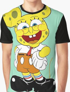 Sponge mickey Graphic T-Shirt