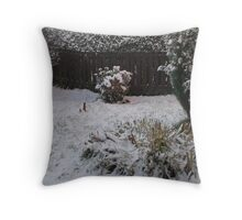 A Winter Garden Throw Pillow