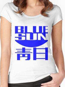 Blue Sun Corporate Logo Women's Fitted Scoop T-Shirt