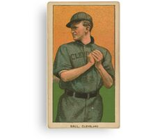 Benjamin K Edwards Collection Neal Ball Cleveland Naps baseball card portrait Canvas Print