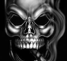 Smoking Skull by RAM by Robert Marzullo