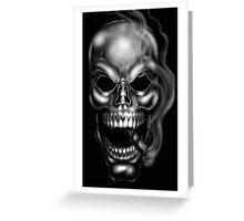Smoking Skull by RAM Greeting Card
