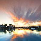 Fire in the Sky - Ormiston Qld Australia by Beth  Wode