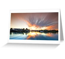 Fire in the Sky - Ormiston Qld Australia Greeting Card