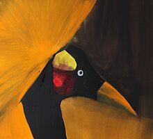 Crowned Crane by Jack G Brauer