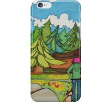 Adventures With Girl and Dog iPhone Case/Skin