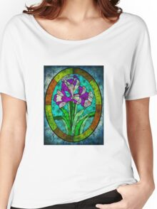 MOTHER NATURE CALLING FROM BEYOND THE STAIN GLASS WINDOW Women's Relaxed Fit T-Shirt
