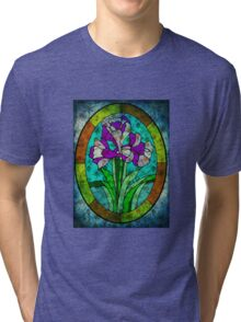 MOTHER NATURE CALLING FROM BEYOND THE STAIN GLASS WINDOW Tri-blend T-Shirt