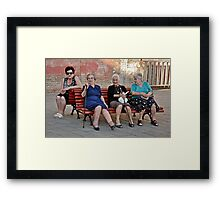 Joining The Ladies At The Gossip Spot Framed Print