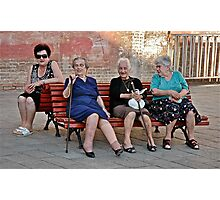 Joining The Ladies At The Gossip Spot Photographic Print