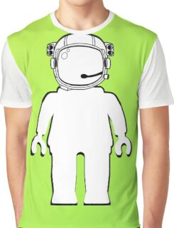 Banksy Style Astronaut Minifig  Customize My Minifig Graphic T-Shirt
