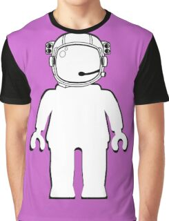 Banksy Style Astronaut Minifig,  Customize My Minifig Graphic T-Shirt