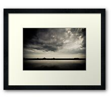 The Movement of Wind Over Water Framed Print
