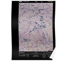 USGS Topo Map Washington State WA Beacon Rock 20110509 TM Inverted Poster