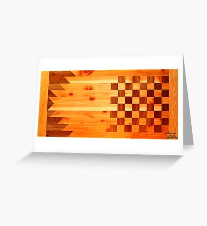 Indian Turkey Chess Table Landscape Greeting Card