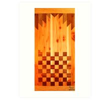Indian Chess Turkey Table Portrait Art Print