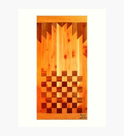 Indian Chess Turkey Table Portrait Art Print