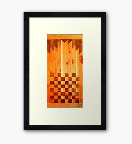 Indian Chess Turkey Table Portrait Framed Print