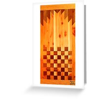 Indian Chess Turkey Table Portrait Greeting Card