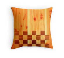 Indian Chess Turkey Table Portrait Throw Pillow