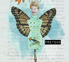 Vintage Altered Art Collage Pretend Poster by Gidget26