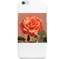 LONG STEM PEACH ROSE iPhone Case/Skin