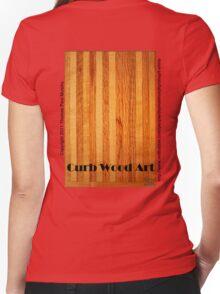 Official Curb Wood Art T shirt Women's Fitted V-Neck T-Shirt