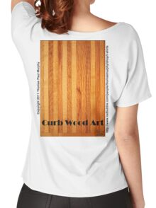Official Curb Wood Art T shirt Women's Relaxed Fit T-Shirt