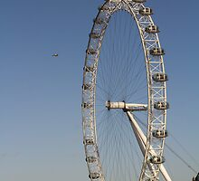 London Eye View with Helicopter by DavidHornchurch