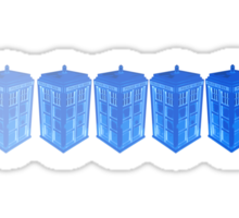 Fading TARDIS Sticker
