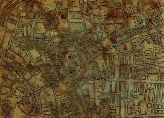 Altered, Whitechapel Map I by Cameron Hampton