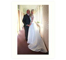 bride and groom Art Print