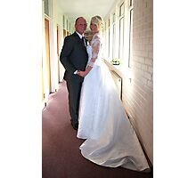 bride and groom Photographic Print