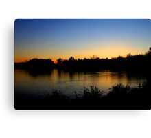 Sunset  12/11/11 Joshua Fronczak Canvas Print