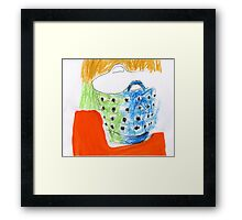 shopping bag with holes Framed Print