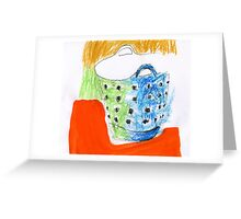 shopping bag with holes Greeting Card